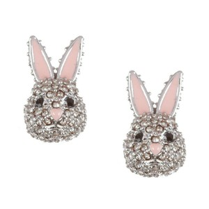 Kate Spade Make Magic Bunny Rabbit Stud Silver Plated Earrings