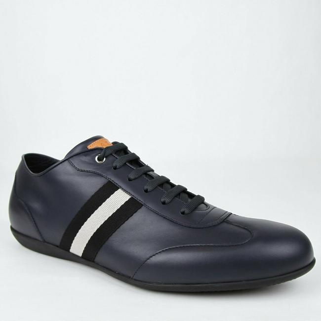 Item - Dark Blue W Calf Leather Sneaker W/Black White Web 14d Harlam-u-529 Shoes