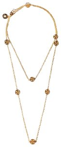 Tory Burch Brand New Tory Burch GOLD Delicate Logo Rosary Necklace