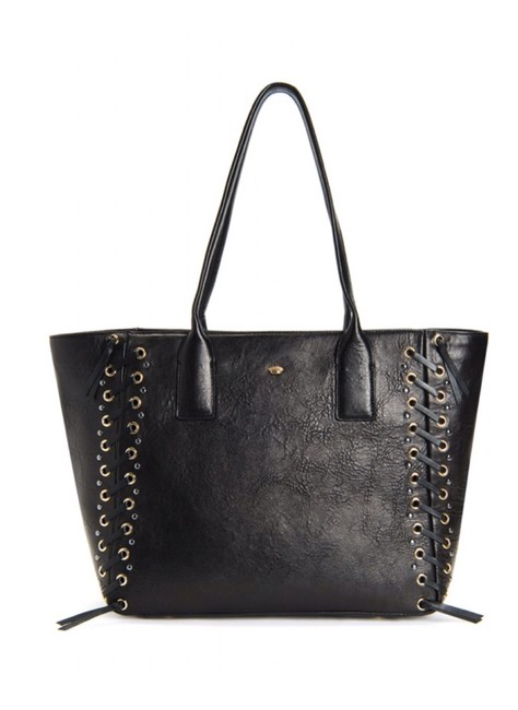 Item - Bag Canyon Whipstiich Bag/Nwt Black Leather Tote
