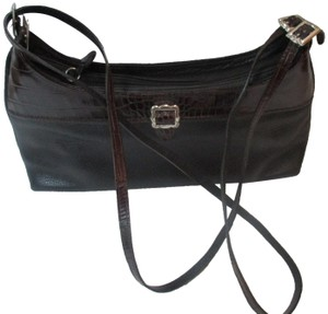 Brighton Croc Silver Hardware Cross Body Bag
