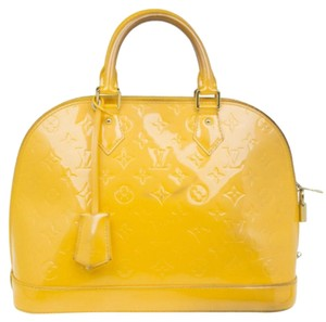 Louis Vuitton Leather Monogram Tote in Yellow