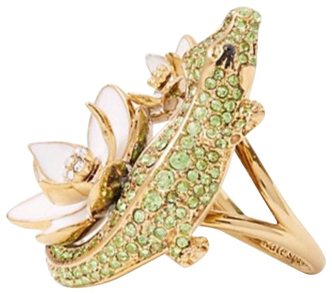 Item - Gold and Green Swamped Alligator Ring