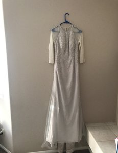 Light Grey Wonder By Modern Wedding Dress Size 4 (S)
