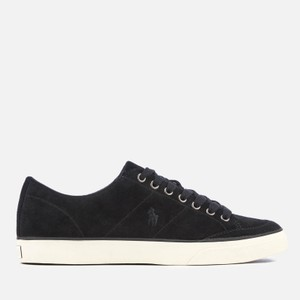 Polo Ralph Lauren Black Sherwin Suede Sneakers Shoes