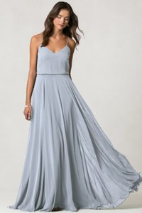 ffd3aa4704d31 Jenny Yoo Whisper Blue Luxe Chiffon Inesse Style: 1684 Traditional  Bridesmaid/Mob Dress Size