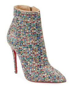 Christian Louboutin Stiletto Silver So Kate Multi Boots