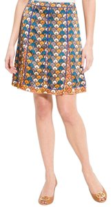 Tory Burch Skirt blue and orange