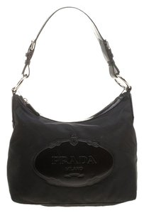 Prada Nylon Leather Hobo Bag