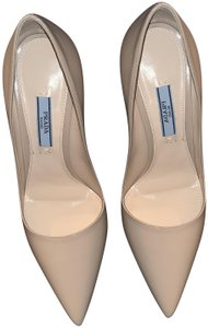 Prada Party Night Out Date Night Holiday Cream Pumps