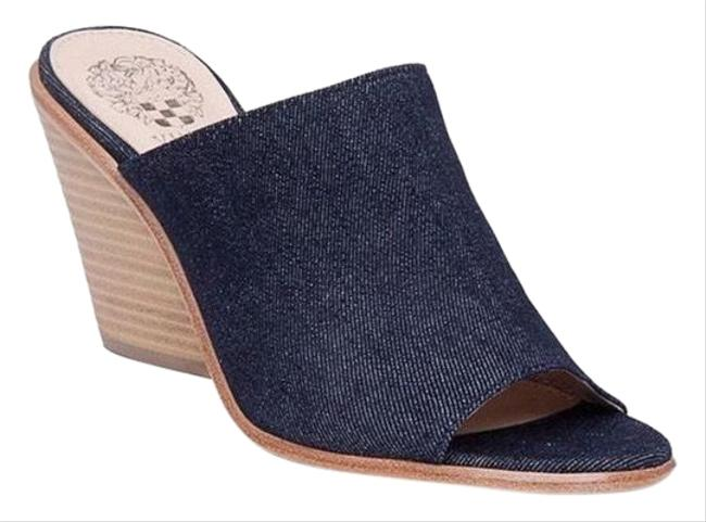 Item - Denim Open Mule In Navy Sz8 Wedges Size US 8 Regular (M, B)