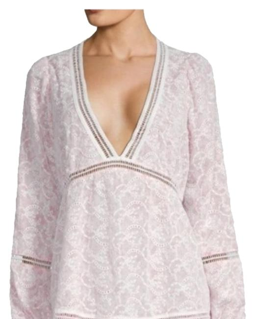 Item - White Pink Sweet Lace And Short Cocktail Dress Size 6 (S)