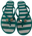 Coach Teal and white Sandals