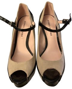 Audrey Brooke black and beige Platforms