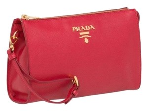 Prada red Clutch