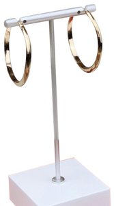 Kenneth Cole Kenneth Cole gold slightly textured hoops