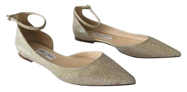 Item - Gold Lucy Strap Flats Size EU 38 (Approx. US 8) Regular (M, B)