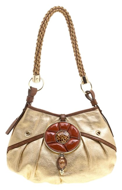 Item - Mini Gold Leather Hobo Bag