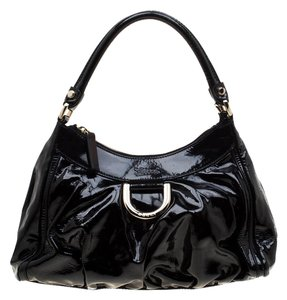 Gucci Patent Leather Leather Hobo Bag