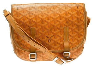 Goyard Canvas Leather Shoulder Bag