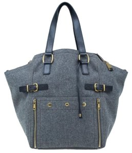 Saint Laurent Suede Tote in Grey