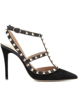 Valentino Studded Rockstud Chanel Pump Nero Sandals