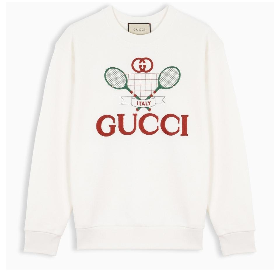 454780ca2 Gucci White XS New Df Tennis Embroidery Sweatshirt/Hoodie Size 2 (XS ...