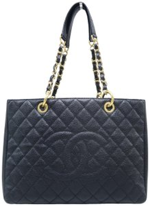 Chanel Gst Caviar Grand Shopping Tote Shoulder Bag
