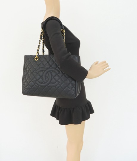 Chanel Gst Caviar Grand Shopping Tote Shoulder Bag Image 11