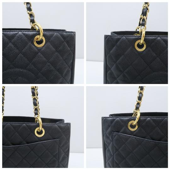 Chanel Gst Caviar Grand Shopping Tote Shoulder Bag Image 6