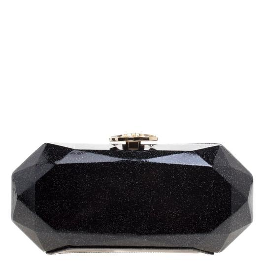 Chanel Satin Leather Black Clutch Image 1