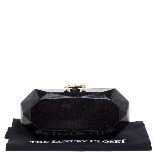 Chanel Satin Leather Black Clutch Image 11