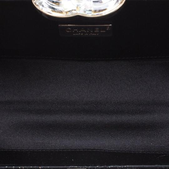 Chanel Satin Leather Black Clutch Image 5