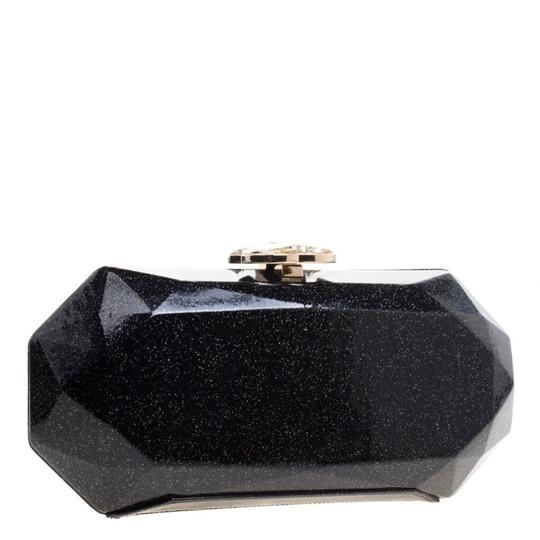 Chanel Satin Leather Black Clutch Image 6