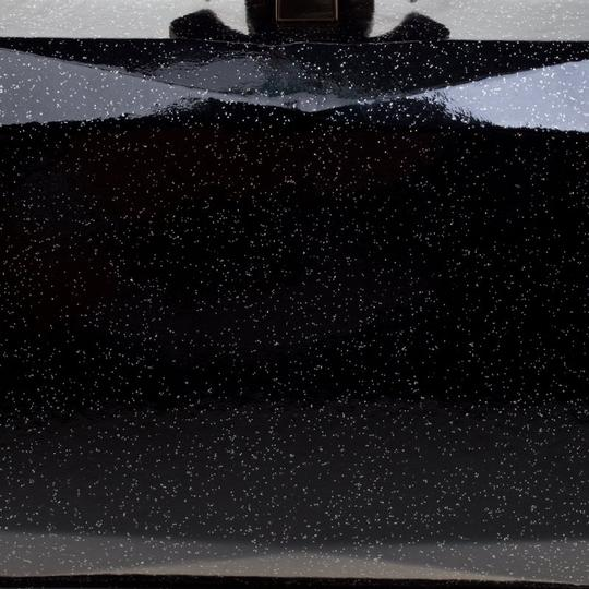 Chanel Satin Leather Black Clutch Image 7