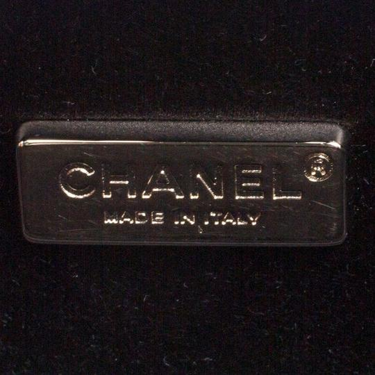 Chanel Satin Leather Black Clutch Image 8