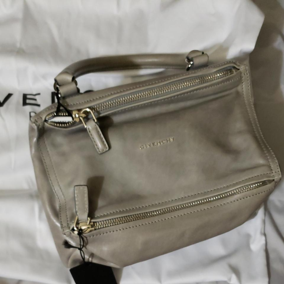 1cfbe797ce8 Givenchy Aged Small Pandora Grey Calfskin Leather Cross Body Bag ...