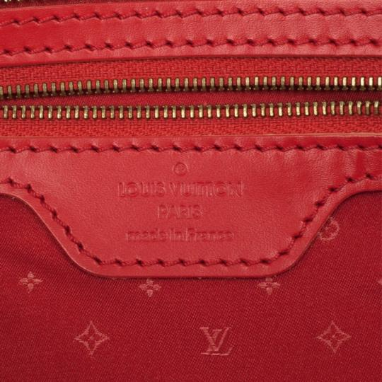 Louis Vuitton Leather Tote in Red Image 10