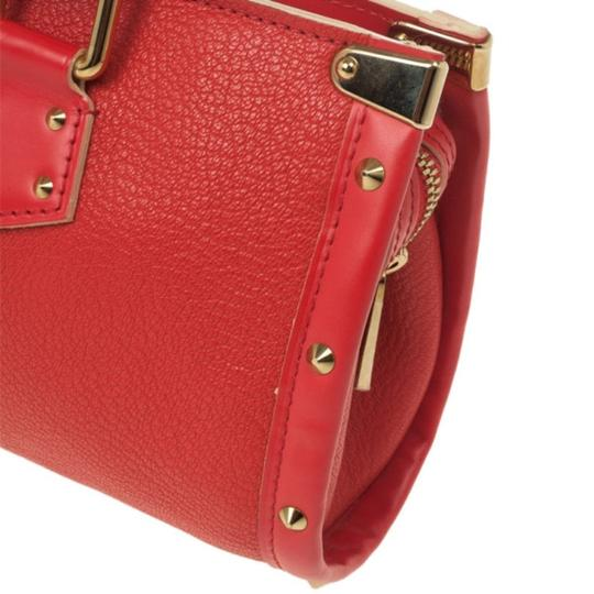 Louis Vuitton Leather Tote in Red Image 8