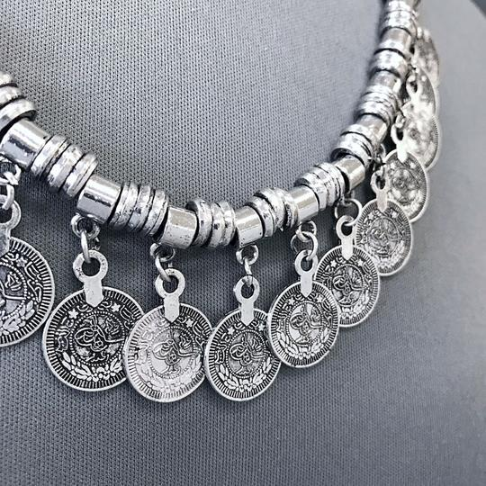 Generic Silver Bohemian Style Designer Inspired Statement Necklace Earrings Image 1