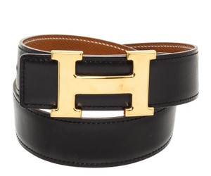 Hermès Hermes Black Leather Reversible Constance H Belt 65