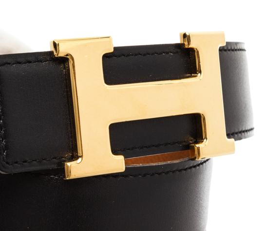 Hermès Hermes Black Leather Reversible Constance H Belt 65 Image 1