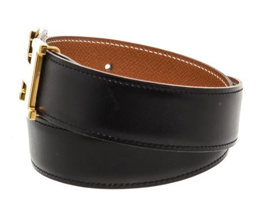 Hermès Hermes Black Leather Reversible Constance H Belt 65 Image 5
