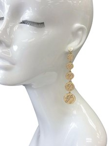 Generic Gold Finished Rome Emperor Design Sextuple Circle Shapes Earrings