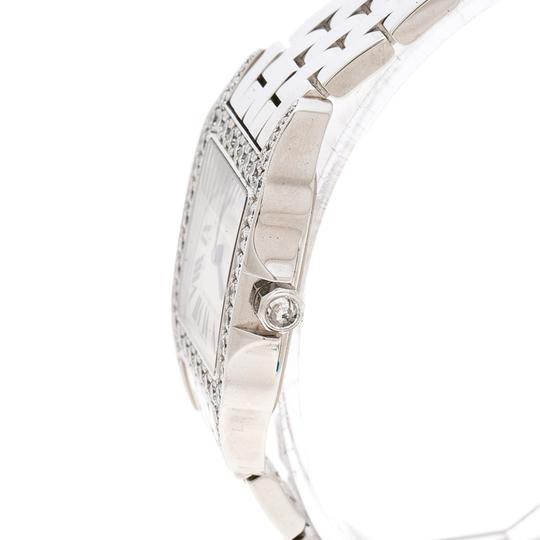 Cartier Diamond 18k White Gold Santos Demoiselle 2703 Women's Wristwatch 28MM Image 5