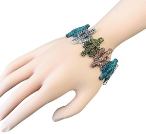 Generic Multi Color Finished Western Style Cactus Shapes Stretchable Bracelet