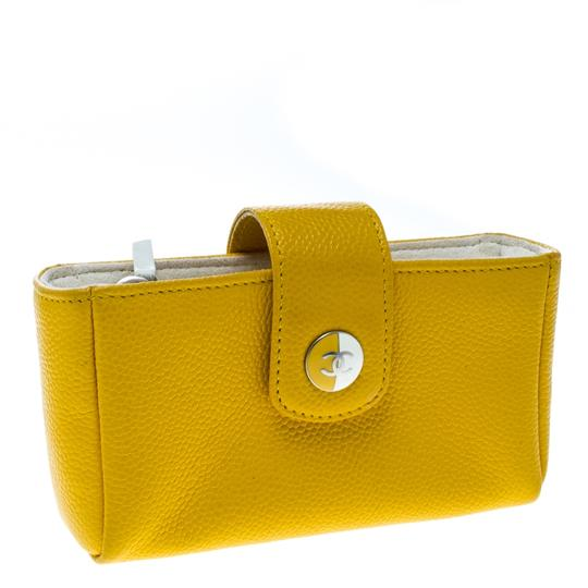 Chanel Yellow Leather IPhone 5 Case Image 2