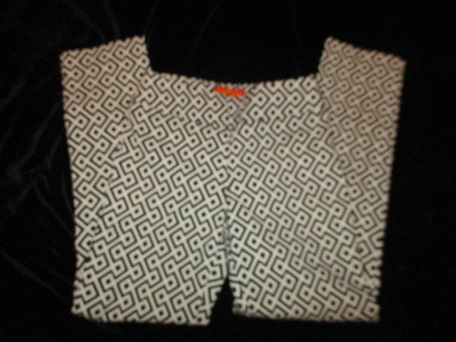 Krazy Larry Stretch Pull On Ankle Onmoo1 Straight Pants black & white geometric print Image 4