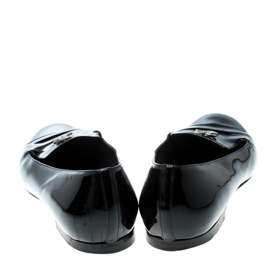 Chanel Patent Leather Black Flats Image 2