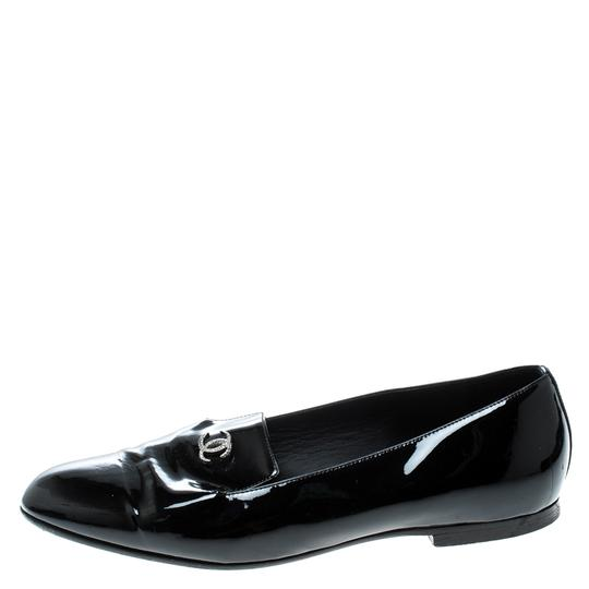 Chanel Patent Leather Black Flats Image 4